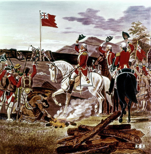 Pain Painting - George Washington At Fort Duquesne by Vintage Images