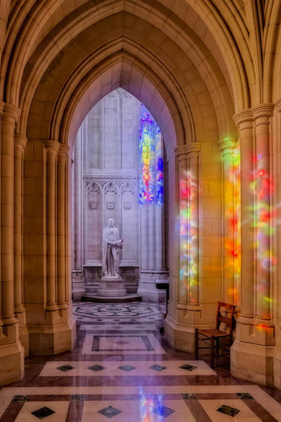 Photograph - George Washington Bay At The Washington Cathedral by Susan Candelario