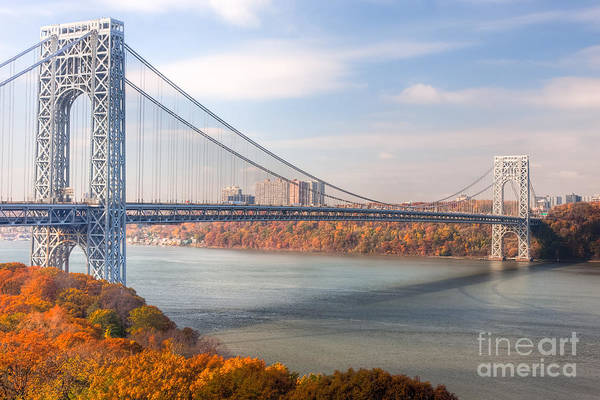 Photograph - George Washington Bridge by Clarence Holmes
