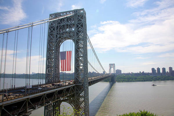 Wall Art - Photograph - George Washington Bridge, New Yorknew by Barry Winiker