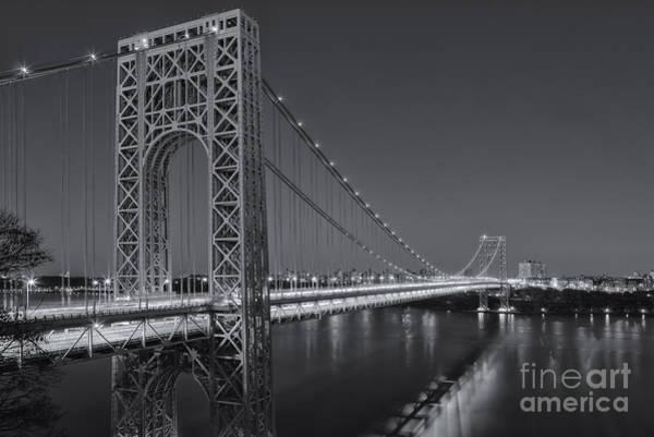 Photograph - George Washington Bridge Twilight II by Clarence Holmes