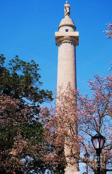 Wall Art - Photograph - George Washington Monument In Spring In  Baltimore by Marcus Dagan