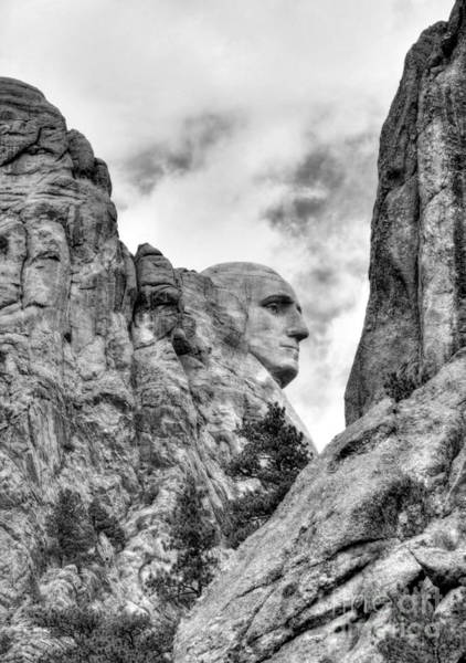 Photograph - George Washington Rocks Bw by Mel Steinhauer
