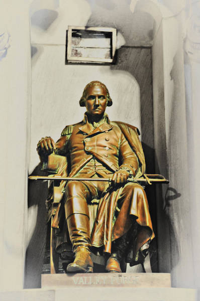 Wall Art - Photograph - George Washington Statue At Valley Forge Chapel by Bill Cannon