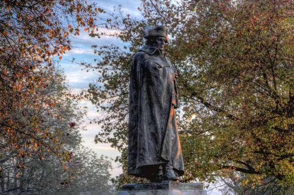 Photograph - George Washington Statue - Valley Forge by Bill Cannon