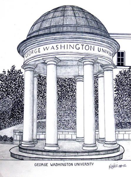 George Washington University Art Print