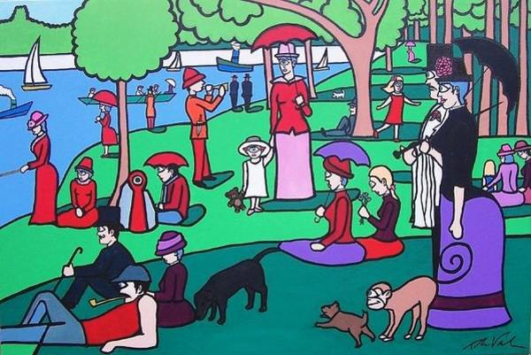 Wall Art - Painting - George Seurat- A Cyclops Sunday Afternoon On The Island Of La Grande Jatte by Thomas Valentine