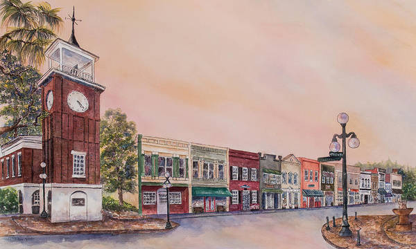 Painting - Georgetown Front Street by Paula Robertson