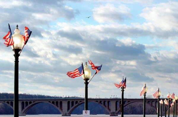 Washington Street Photograph - Georgetown, Key Bridge Over The Potomac by Hisham Ibrahim