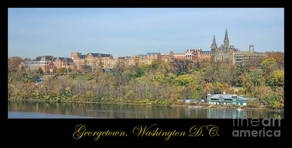 Potomac River Photograph - Georgetown Poster by Olivier Le Queinec