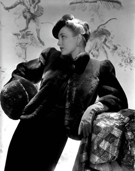 Designer Clothing Photograph - Georgia Carroll Wearing A Cropped Jacket by Horst P. Horst