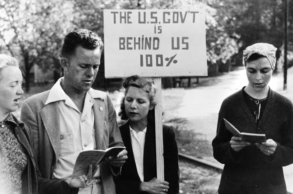 Photograph - Georgia Picketers, 1941 by Granger