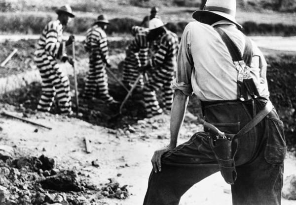 Photograph - Georgia Prison Guard, 1941 by Granger