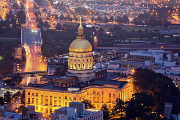 Georgia Photograph - Georgia State Capitol At Night by Ryan Murphy