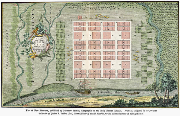 Painting - Georgia Town Plan, 1734 by Granger