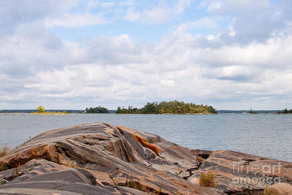 Photograph - Georgian Bay Shore by Les Palenik
