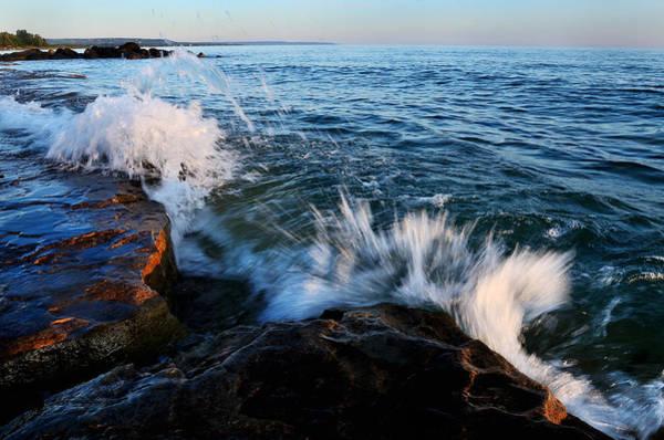 Photograph - Georgian Bay Shore Surf by Steve Somerville
