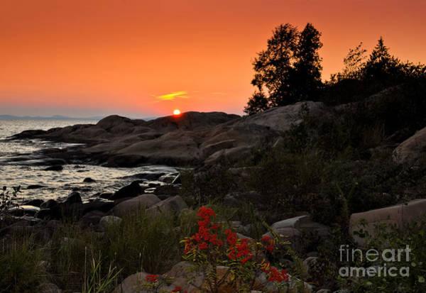 Photograph - Georgian Bay Sunset by Les Palenik