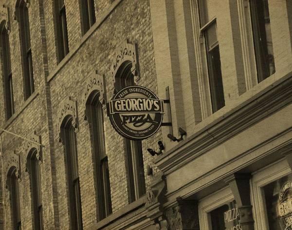 Secret Recipe Photograph - Georgio's Pizza Grand Rapids Michigan by Dan Sproul