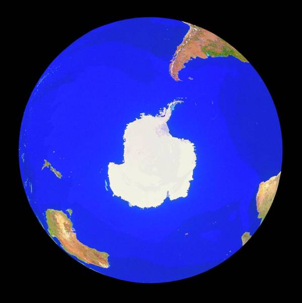 Wall Art - Photograph - Geosphere Image Of Antarctica & Southern Ocean by Copyright Tom Van Sant/geosphere Project, Santa Monica/science Photo Library