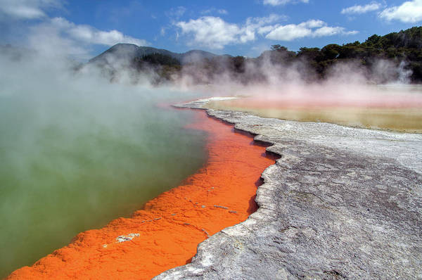 Lava Lakes Photograph - Geothermal Activity In Rotorua by Traumlichtfabrik