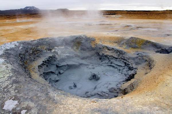 Natural Pool Photograph - Geothermal Mud Pool by Steve Allen/science Photo Library