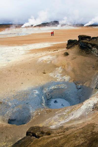 Natural Pool Photograph - Geothermal Mud Pools by Steve Allen/science Photo Library