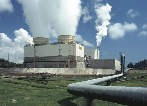Energy Crisis Photograph - Geothermal Power Plant In Mexico by Theodore Clutter