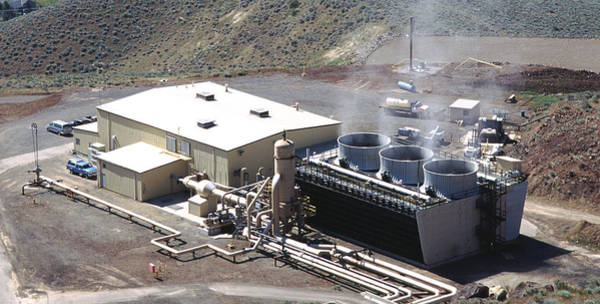 Energy Crisis Photograph - Geothermal Power Plant In Nevada by Theodore Clutter