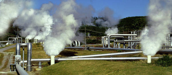 Geothermal Photograph - Geothermal Power by Steve Allen/science Photo Library