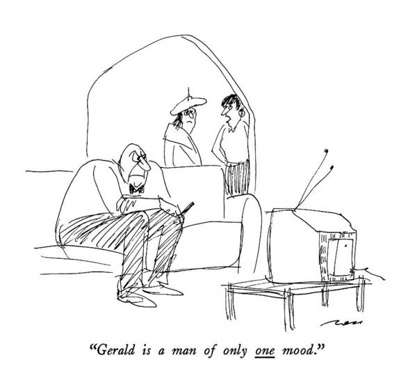 T.v Drawing - Gerald Is A Man Of Only One Mood by Al Ross