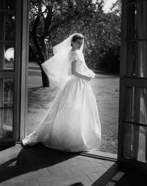 Photograph - Geraldine Kohlenberg Wearing A Wedding Dress by Horst P. Horst