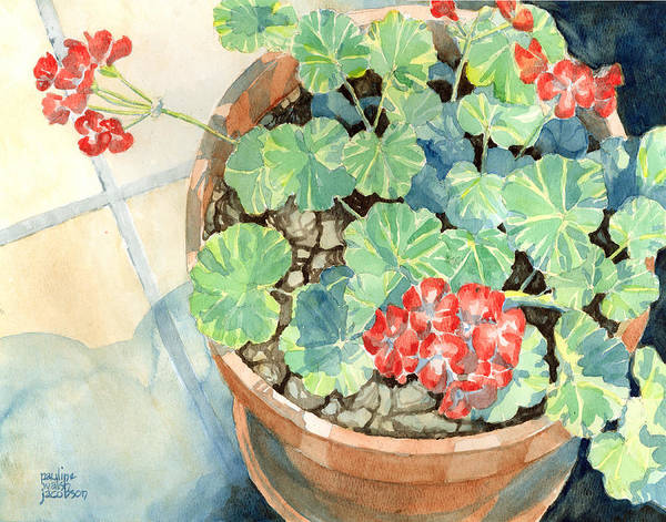 Painting - Geraniums by Pauline Walsh Jacobson