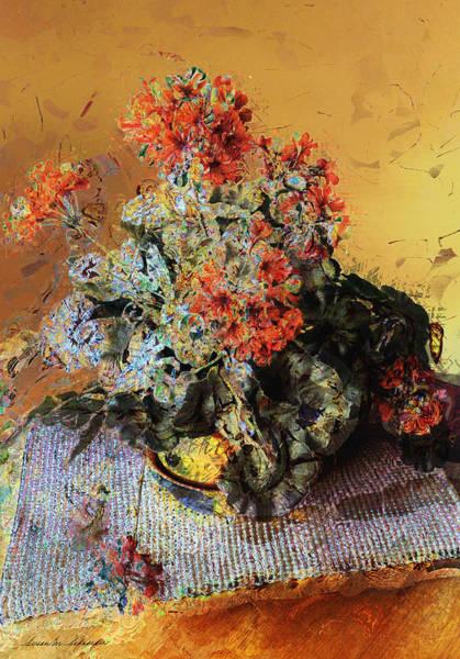Painting - Geraniums by Susan Schroeder
