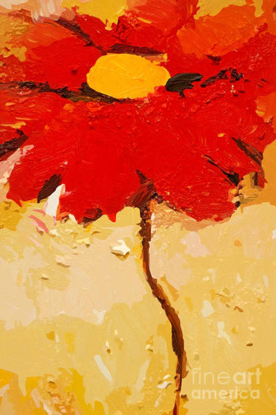 Impressionism Mixed Media - Gerbera Art by Lutz Baar