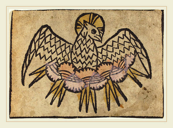 Holy Ghost Drawing - German 15th Century, The Holy Ghost by Litz Collection