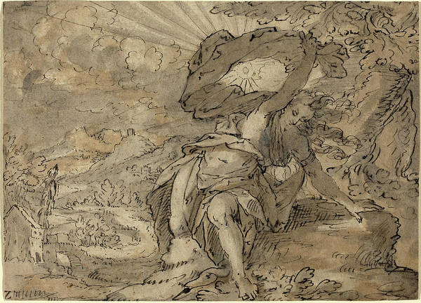Allegorical Figure Drawing - German 17th Century, Allegorical Female Figure by Quint Lox