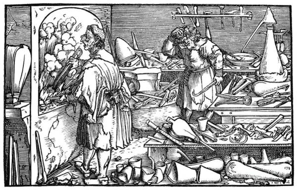 Photograph - German Alchemist, 1537 by Granger