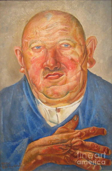 Russian Impressionism Wall Art - Painting - German Butcher  by Celestial Images