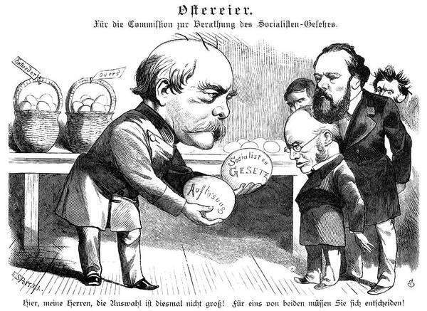 Political Cartoon Painting - German Cartoon, 1884 by Granger