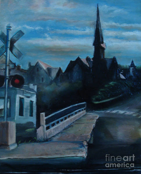 Painting - German Church by Donna Chaasadah