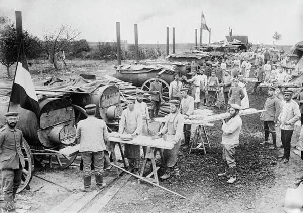 German Food Photograph - German Field Bakery by Library Of Congress
