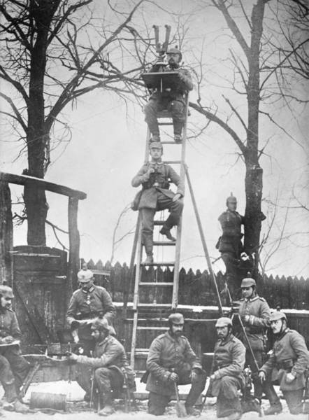 Ladders Photograph - German Field Observers by Library Of Congress