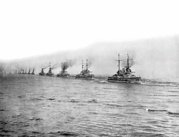Photograph - German Fleet Surrenders by Underwood Archives