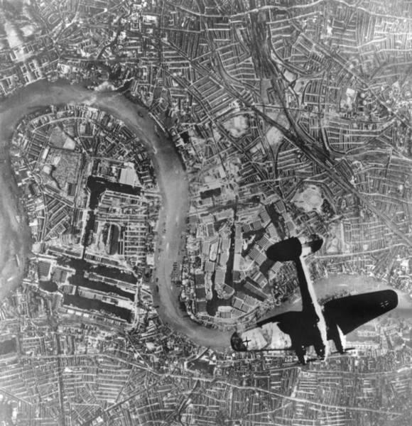 Wall Art - Photograph - German Heinkel 111 Bomber Over London by Everett