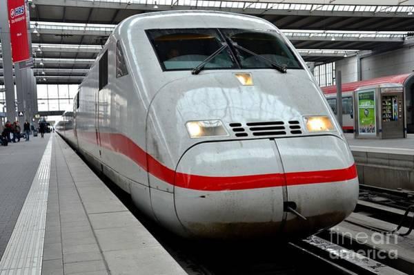 German Ice Intercity Bullet Train Munich Germany Art Print