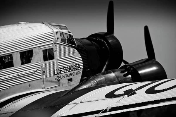 Ju 52 Wall Art - Photograph - German Junkers Ju-52 Aircraft by Timm Ziegenthaler