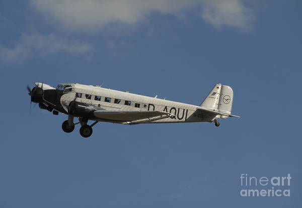 Ju 52 Wall Art - Photograph - German Junkers Ju 52 Flying by Phil Wallick