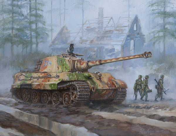 Tool Painting - German King Tiger Tank In The Battle Of The Bulge by Philip Arena