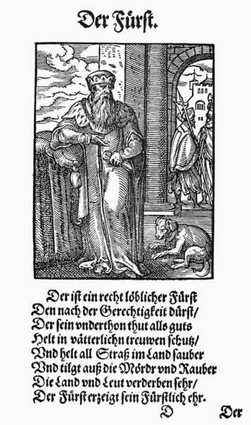 Crown Imperial Painting - German Prince, 1568 by Granger